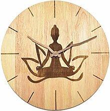 MJK Horloge Murale Nouveauté, Yoga Positions