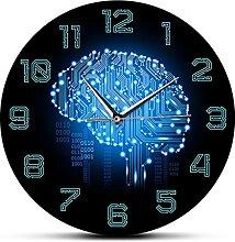MJWLKJ Horloge Ronde Pendule Mouvement Silencieux