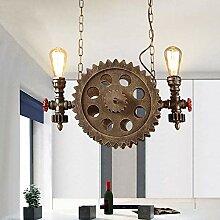 MKKM 2 Lumières Bronze Rétro Industriel Grosse