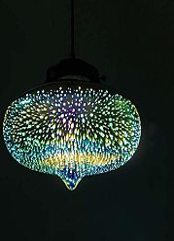 MKKM 3D Glass Fireworks Art Art Éclairage Led