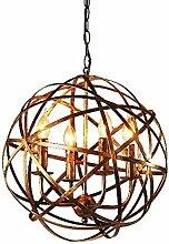 MKKM 4 Lumières Globe Cage Rond Industrielle