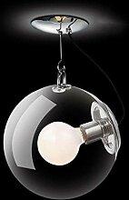 MKKM Lampe de Plafond de Verre de Verre À Led