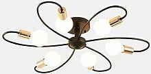 MKKM Lampe de Plafond Moderne Industriel Led En