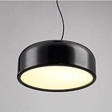 MKKM Postmoderne Simple Fer Noir Métal Lampe