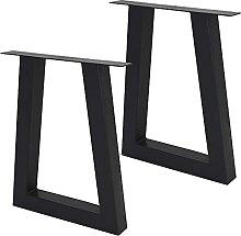 ML-Design Set 2 Pieds de Table 60x73 cm, Noir,
