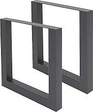ML-Design Set 2 Pieds de Table 70x72,5 cm,