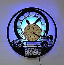 MLLL Horloge Murale en Vinyle Retour vers Le Futur