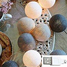 MLOPPTE Noël,Boule de Coton décoration Guirlande