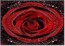 MMHJS Tapis De Rose 3D Épaissi Tapis