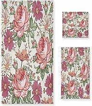 MNSRUU Magnifiques serviettes de bain roses et