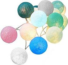Moares Guirlande lumineuse LED en forme de boule