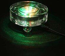Mobestech Cristal Rond LED Base Lumineuse