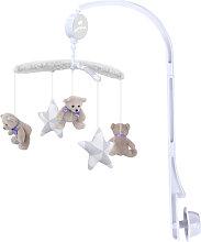 Mobile musical bébé Little Bear Gris/Blanc 34x65