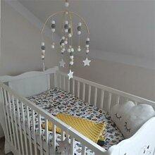 Mobile pour bébé, perles en bois, nordique,