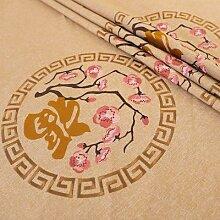 Modèle de tissus de broderie de lin de Textile de