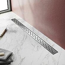 Modèle en S, (70cm) Inox, Siphon de canal de