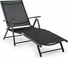 Modena Chaise longue transat 64x85x170cm tubes