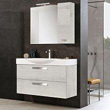 Modern suspended bathroom cabinet 105 cm base with