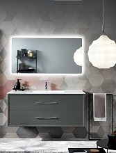 Modern suspended bathroom cabinet 120 CLASSIC base