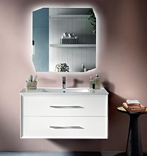 Modern suspended bathroom cabinet base 100 CLASSIC
