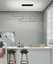 Moderne Aluminium LED Salon Linéaire Pendentif