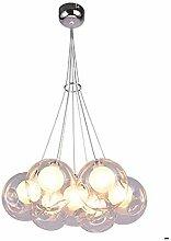 Moderne Boule De Verre Lustre Led Chrome Globe