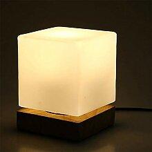 Moderne Cube Lampe de Table Abat-jour en Verre