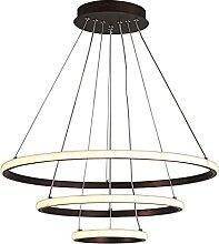 Moderne Dimmable Salon Anneau Pendentif Lampe