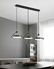 Moderne LED 3 Anneaux Suspension Luminaire Métal