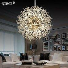 Moderne LED Lustre Or/Argent Intérieur Cristal