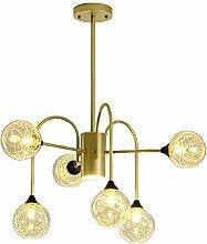 Moderne LED Spoutnik Lustre,Boule Verre Ombre