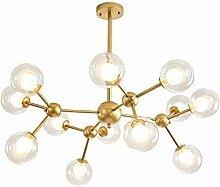 Moderne LED Spoutnik Lustre,Vintage Boule Verre