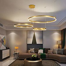 Moderne LED Suspension 3 Anneaux Doré Luminaire
