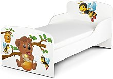 Moderne Lit d'Enfant Toddler en bois avec un