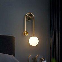 Moderne Mur Led Lampe Boule de Verre Appliques Or