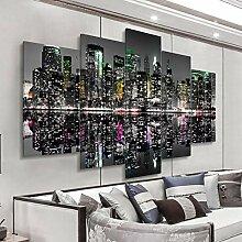 Moderne Mur Toile Peinture Photos 5 Panneaux Carte