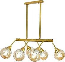 Moderne Rectangle Sputnik Lustres,E27 Golden Luxe