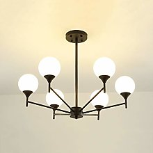 Moderne Spoutnik Lustre,Boule Verre Abat-jour LED