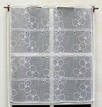 Modulable Etamine Blanc Brodé Réf. 61180.70.