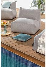 Modules de canapé de jardin en tissu Attus Gris &