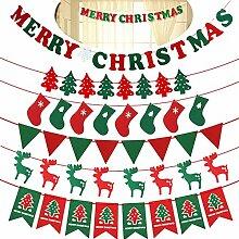 MoGist Merry Christmas Tirer Le Drapeau Bannières