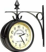 MOH Horloge de gare retro double face New York