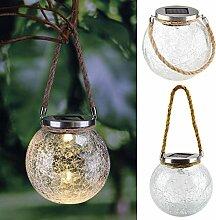 Mojawo® XL en verre LED Lampe boule Lampe solaire