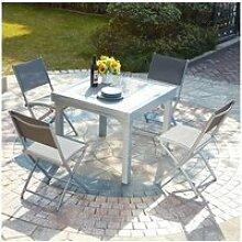 Molvina 4 : table de jardin extensible en