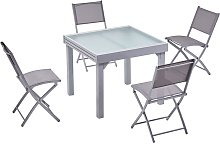 Molvina 4 : table de jardin extensible en