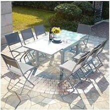 Molvina 8 : table de jardin extensible en