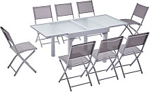 Molvina 8 : table de jardin extensible en