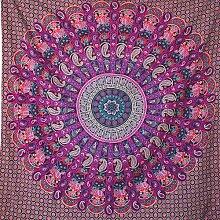 momomus Tapisserie Mandala - Indien - 100% Coton,