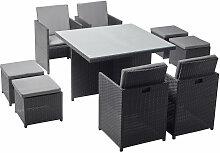 Monaco 8 : salon de jardin encastrable 8 places en