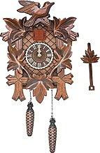 Monland Horloge Coucou SculptéE à la Main, avec